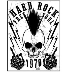 Hard rock music poster vector