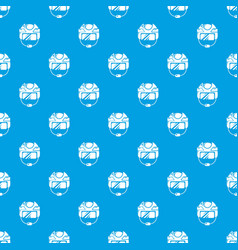 hockey helmet pattern seamless blue vector image