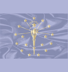 Indiana state silk flag vector