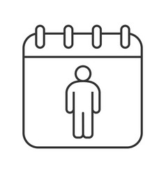 International mens day linear icon vector