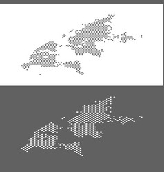 isometric world map dotted effect vector image