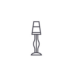 lamp stand line icon sign on vector image