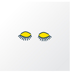 lashes icon colored line symbol premium quality vector image