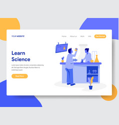 Learn science concept vector