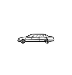 limousine hand drawn outline doodle icon vector image