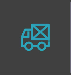 mail truck in an envelope linear style logos on a vector image