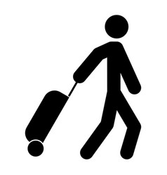 man with suitcase vector image