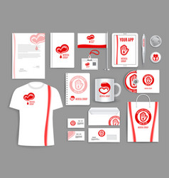 Medical templates for blood donation vector