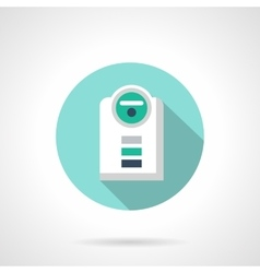 Modern humidifier flat color design icon vector