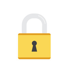 pad lock icon on white background vector image