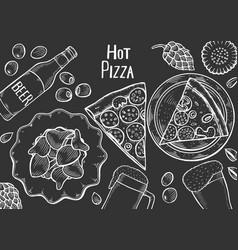pub food frame vector image