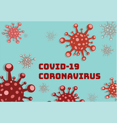 Publicity sign coronavirusicon covid-19 vector