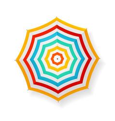 realistic detailed 3d striped sun umbrella vector image