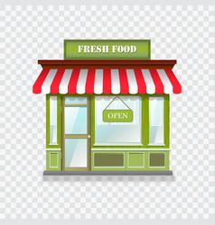 realistic shop icon vector image
