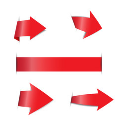 red arrow stickers on white background vector image