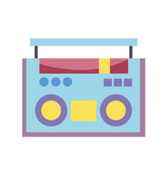 retro boombox stereo radio music design isolated vector image
