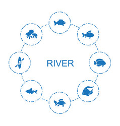 River icons vector