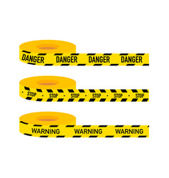 Set caution lines isolated warning tapes danger vector