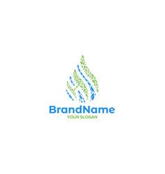 Sh leaf logo design vector