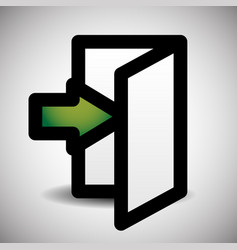 Simple inside or outside door symbol sign vector