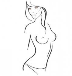 slim women vector image