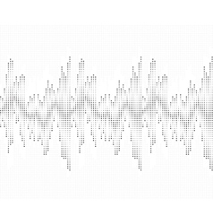 Sound wave pattern Isolated on white background vector image