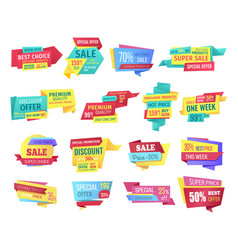 special offer banners for clearance sale event vector image