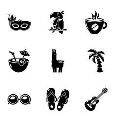 sunrise icons set simple style vector image