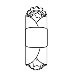 Tacos food silhouette vector