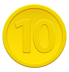 Ten coin vector image