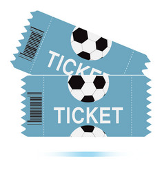 Two football tickets icon on white background two vector