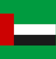 united arab emirates flag icon in flat style vector image