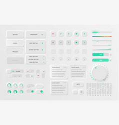 very high detailed white user interface pack vector image