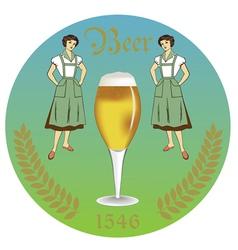 Vintage retro label beer restaurant vector