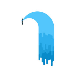 water leak isolated sewerage is broken vector image