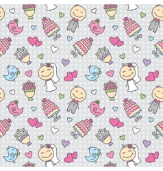 wedding pattern vector image