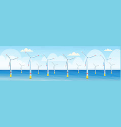 wind turbines clean alternative energy source vector image