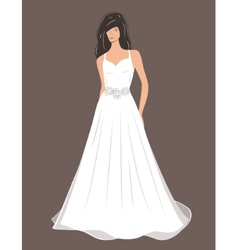 Woman in Wedding dress vector
