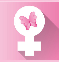 womens day gender symbol butterfly vector image