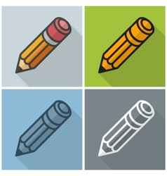 Wooden pencils stylized vector image