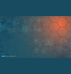 abstract background with hexagon elements vector image vector image
