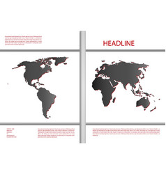 Cover design with world map vector image