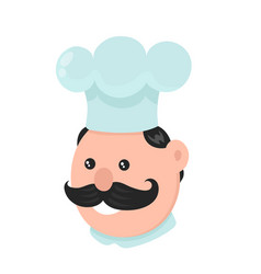 funny smiling cook modern flat vector image