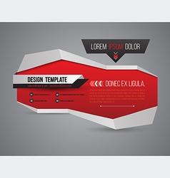 Modern banner 3D style vector image