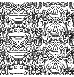Abstract seamless pattern with hand drawn ornament vector image vector image