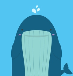 cute big fat whale vector image vector image