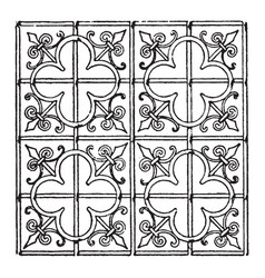 Late gothic pattern is a 15th century choir vector