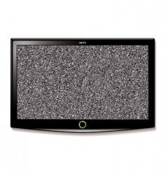 LCD TV wall hang static vector image