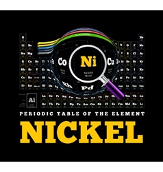 Periodic Table of the element Nickel Ni vector image