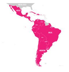 political map of latin america latin american vector image